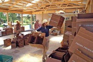 Getting ready to pack the boxes photo by Ryan Fedder